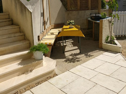 private BBQ and dining area