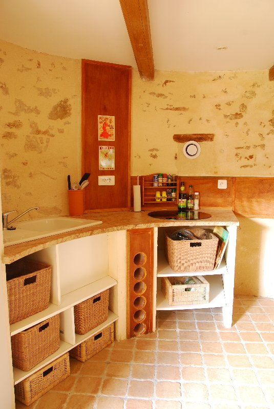 kitchen at The Windmill Vendee
