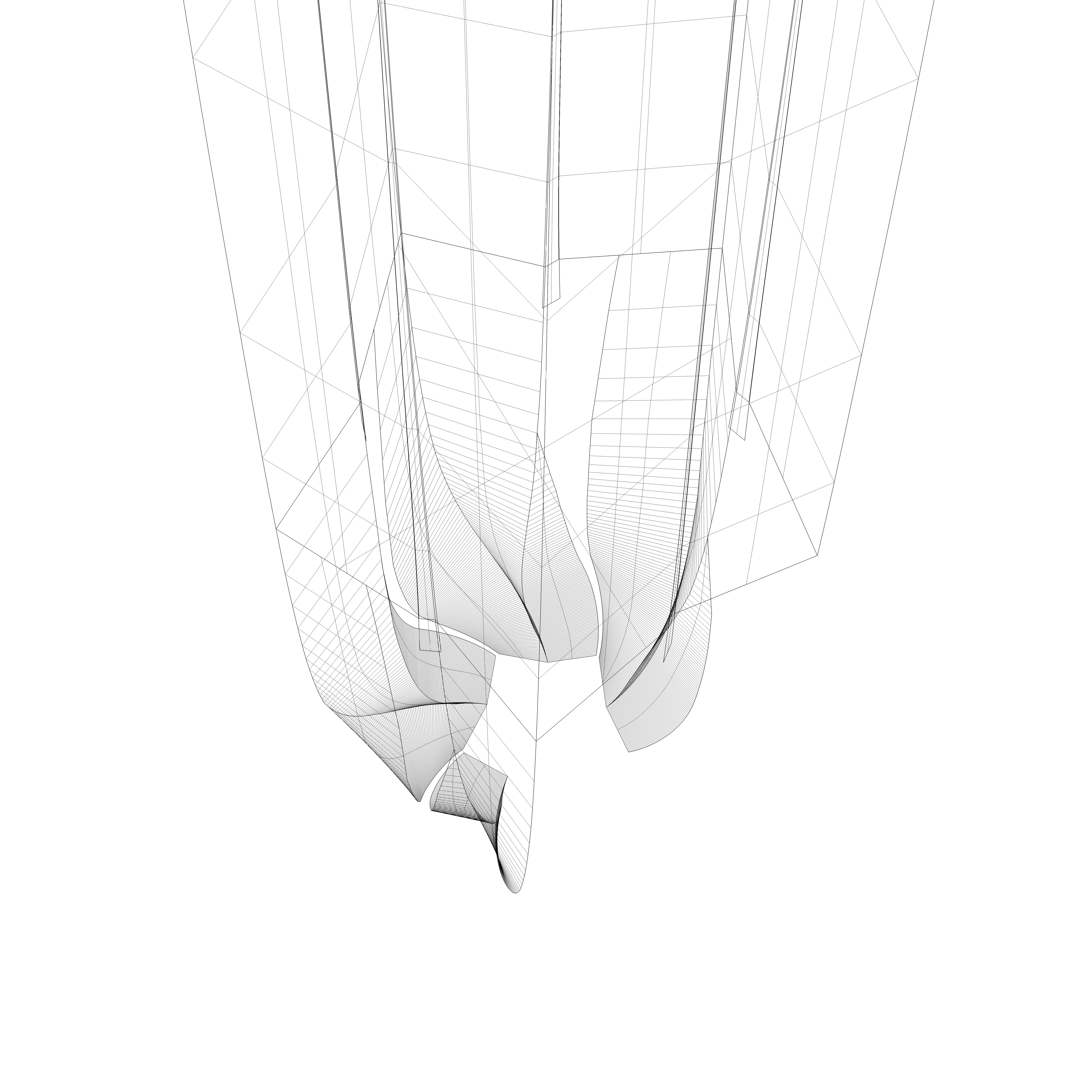 Модель оболочки Башни Лахта Центра