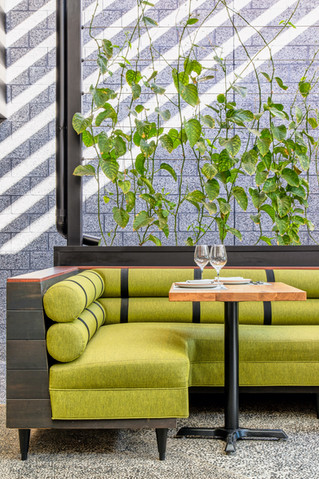 Dining Outside under Passion Flower Vines