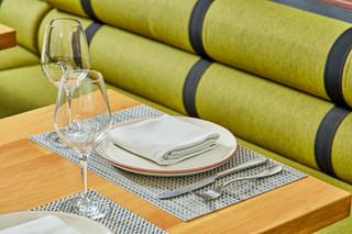 Patio Banquette Tables