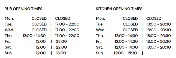The Rose and Crown Opening Times 230920.