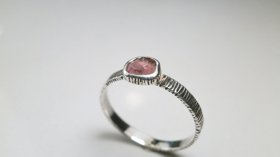 Free Faceted Afghan tourmaline Ring - Silver 925°