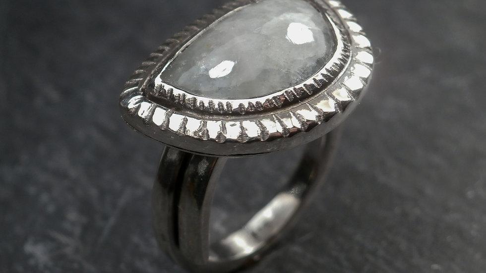Aquamarine Baroque Ring - Silver 925°