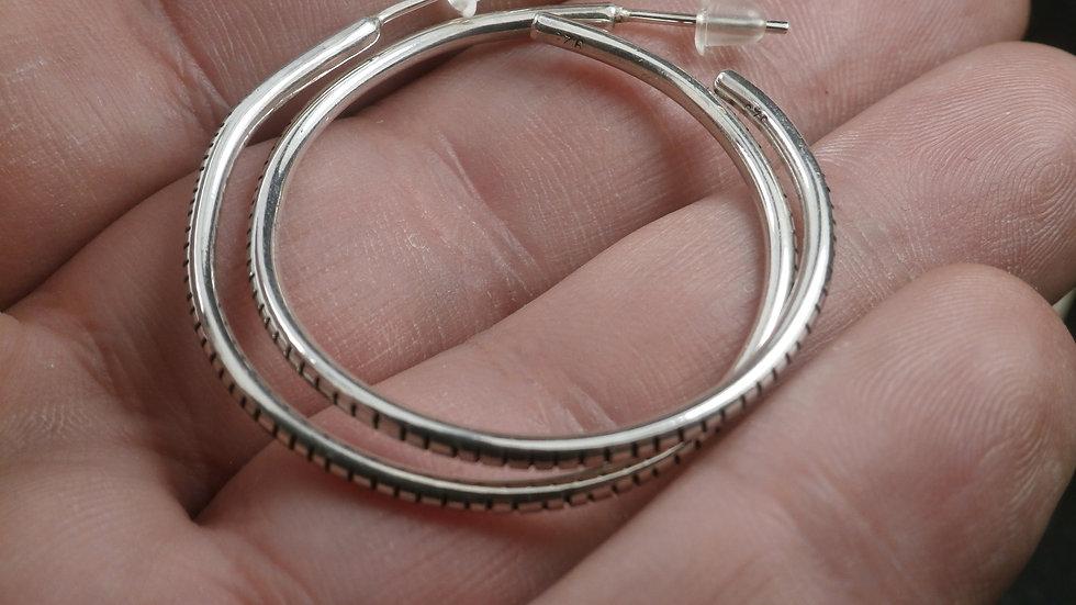 Minimal Silver Hoops - Silver 925°