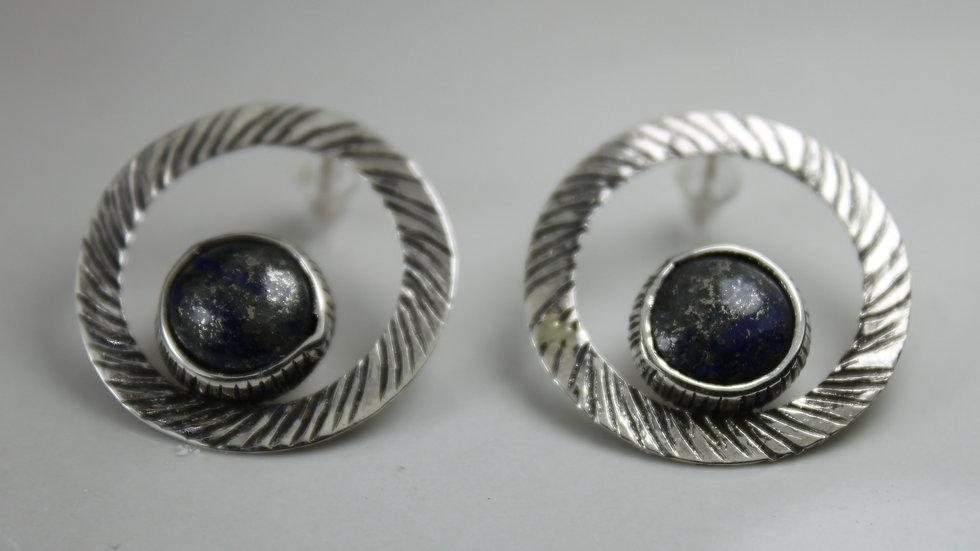 Wreath Earrings - Lapis Lazuly - Silver 925°