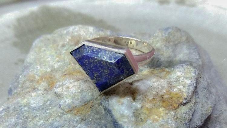DK21 Ring - Lapis Lazuli - Sterling Silver (925°)