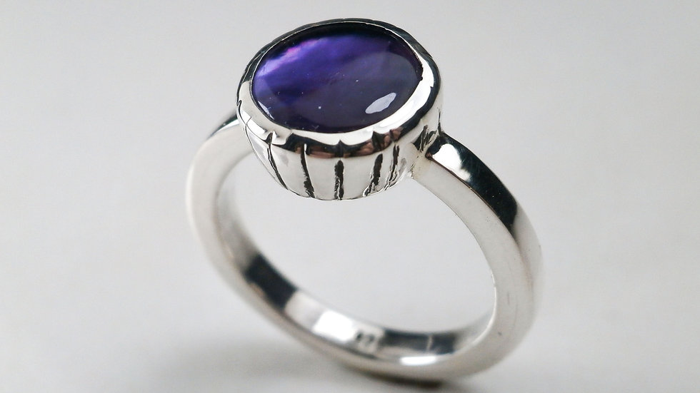 Amethyst - Square Shank  Ring