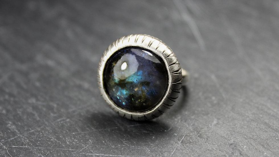 Poppy Ring - Labradorite - Silver 925°
