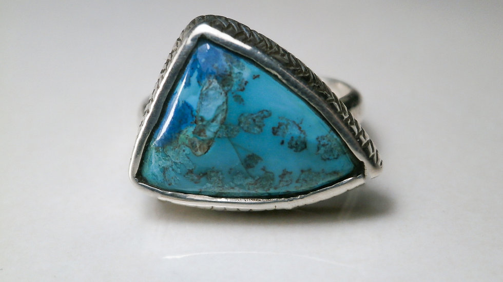 Chrysocolla ring - Silver 925°