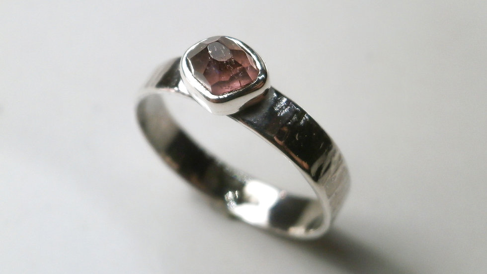 Free Faceted Afghan tourmaline Ring #2 - Silver 925°
