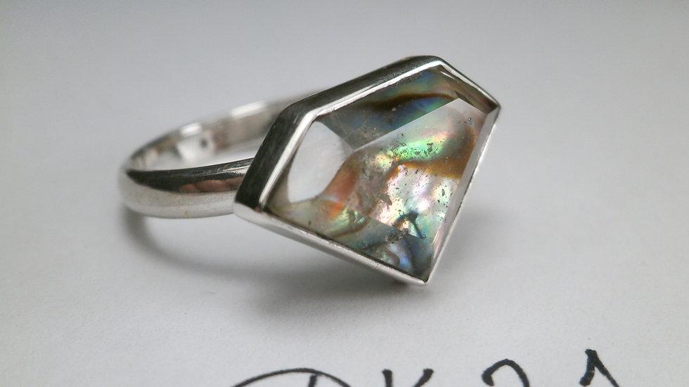 DK21 Ring- Quartz & Abalone- Silver 925°