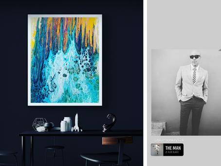 « Quand la lave rencontre l'océan » : le tableau d'un Réunionnais exposé à New-York :)