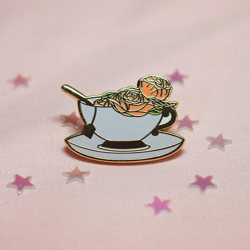 Rose Tea Enamel Pin