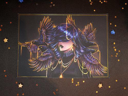 Raven Gold Foil A4