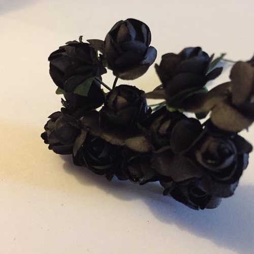 Creative fabrics and crafts fabrics sewing craft supplies all dainty black paper flowers mightylinksfo