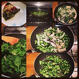 green omlette fritata