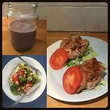 healthy food low carb burger