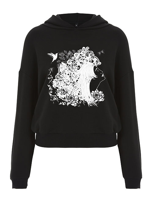 THE DREAMER LADIES CROPPED PULLOVER HOODIE