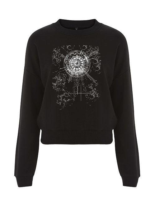 OBLIVION LADIES CROPPED SWEATSHIRT