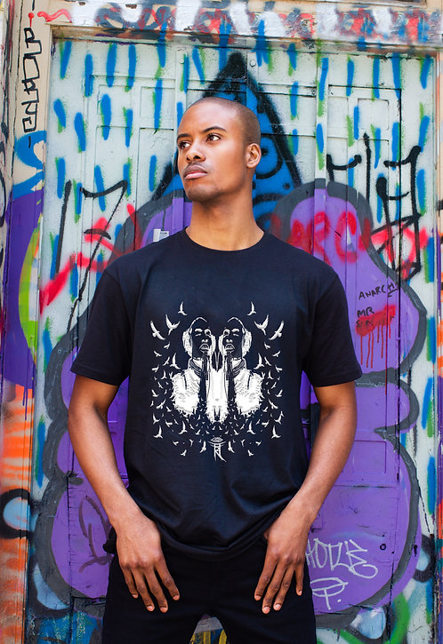 LET MUSIC GUIDE THE WAY MENS EXTRA LONGLINE T-SHIRT
