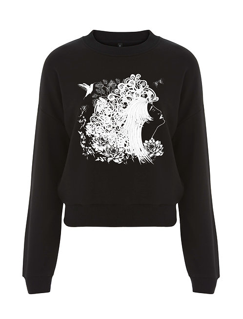 THE DREAMER LADIES CROPPED SWEATSHIRT