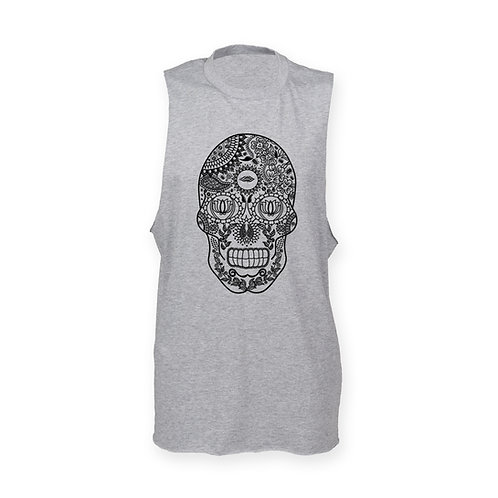 DEPARTED SOUL (SEE WITHIN) MENS GREY TANK