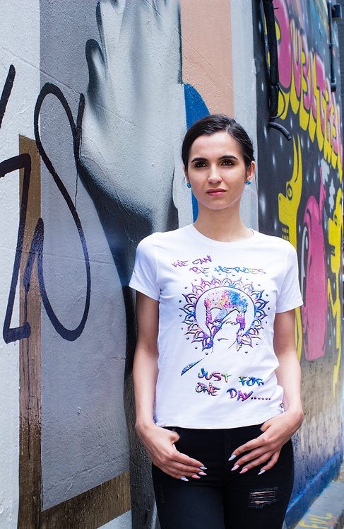 HEROES LADIES SLIM FIT TSHIRT