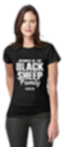 Womens Member Black Sheep Fitted Tshirt.