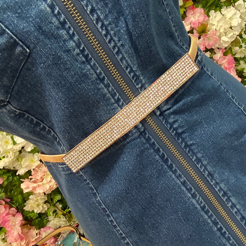 Sheena Elasticated Dimante Buckle Belt
