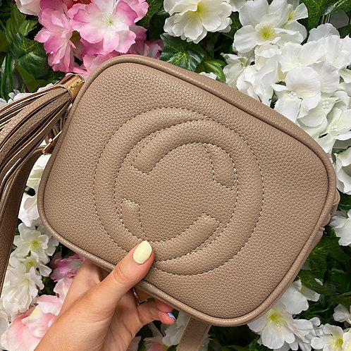Sophie Crossbody Handbag Mushroom/Tan/White