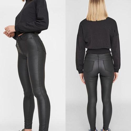 Noisy May Callie coated jeans