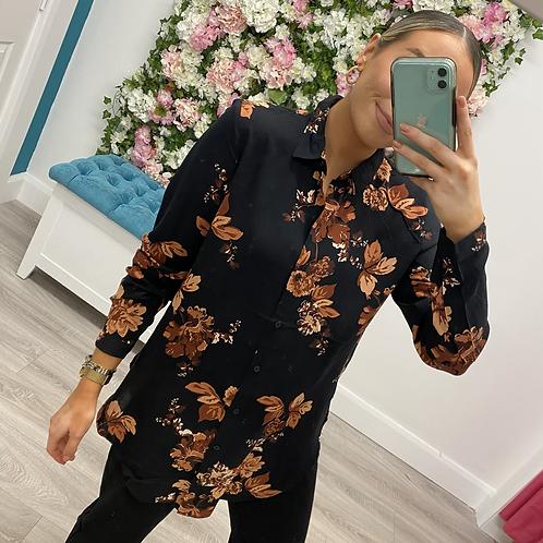Henna Shirt Brown floral