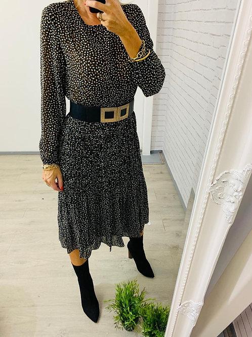 Michaela Dress in Brown / Black