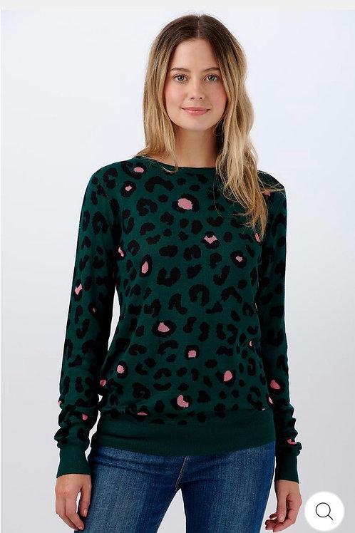 Callie green colour pop leopard sweeter