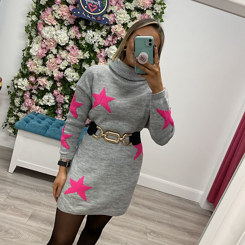 Lucy Polo neck jumper dress