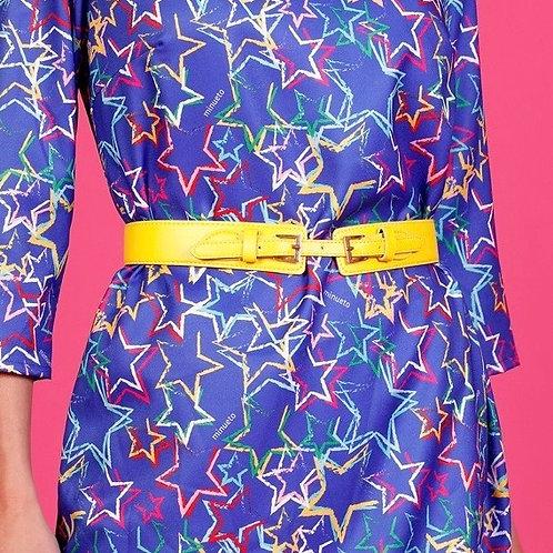 Yellow Double Buckle Belt