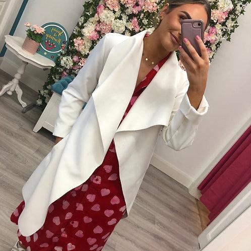 Cream Felt Wrap Coat