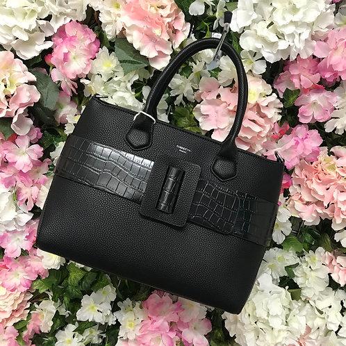 Vanessa Handbag in white / peach / black / stone