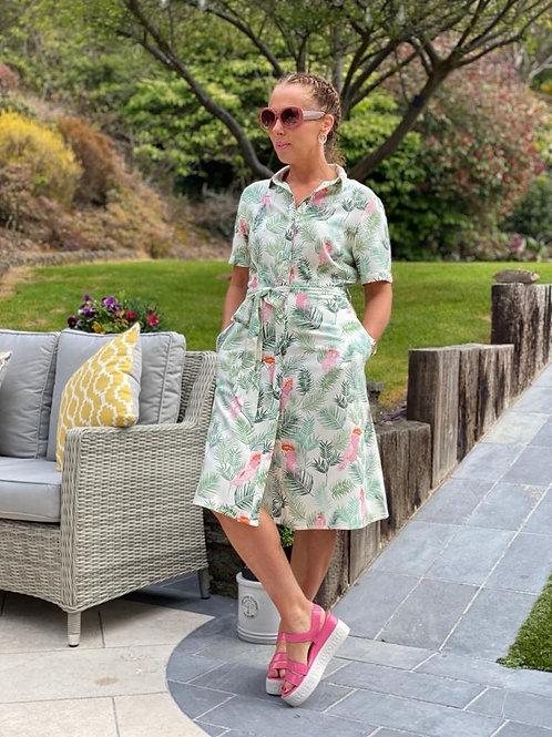 Abby Shirt Dress Cockatoo