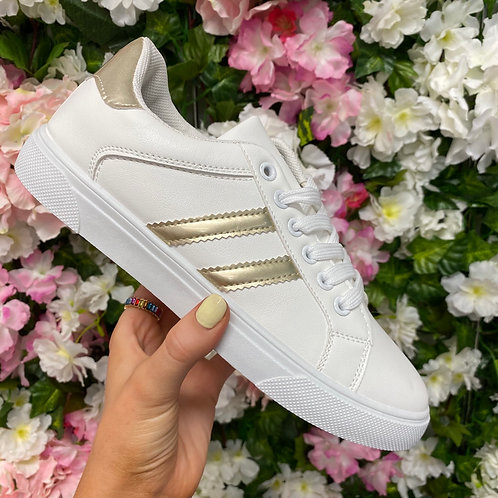 Fiona Trainers Silver/Gold