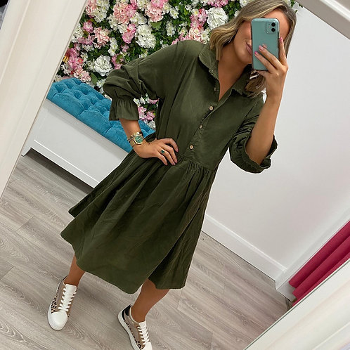 Melissa Dress in Khaki/Beige