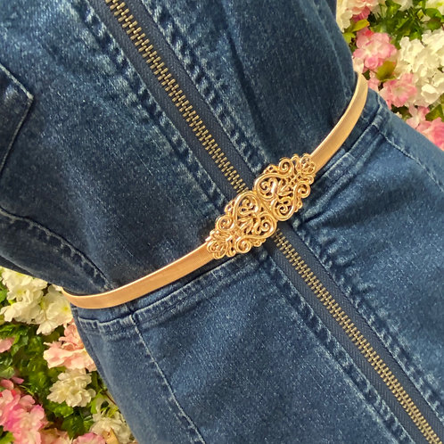 Sheena Elasticated Spiral Buckle Belt