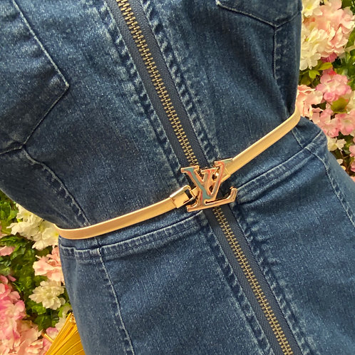 Sheena Elasticated Gold LV Belt