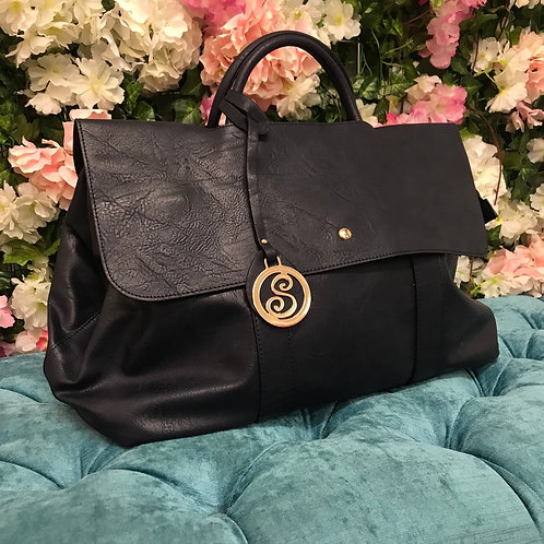 Victoria Weekend Handbag in black / navy
