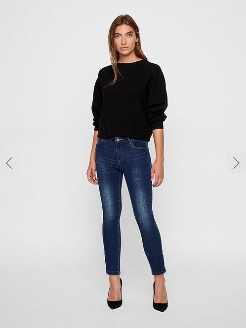 Kimmy zip dark blue jeans
