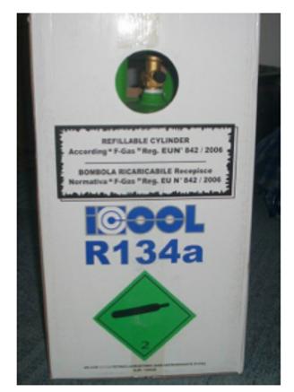 R134a Refrigerant supply cylinder