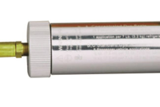 Refillable universal UV-Dye injector