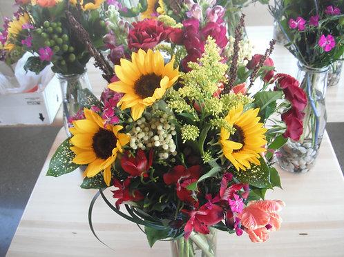 Seasonal Peaseblossoms Handtied bouquet