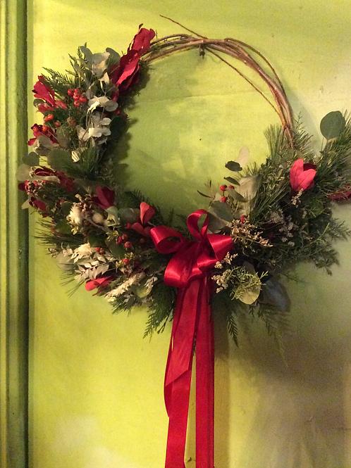 Class-Winter Crescent Wreath